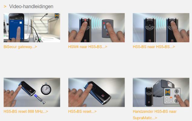 Stel uw handzender eenvoudig zelf in met behulp van deze instructievideo's