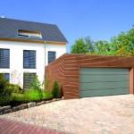 Hormann sectionaaldeur t-profiel met houtlook inlays