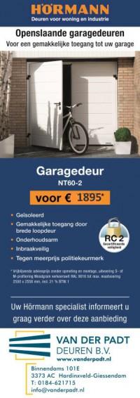 Actie Hormann openslaande garagedeuren bij Van der Padt