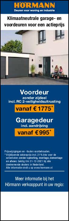 Actie garagedeuren bij Van der Padt
